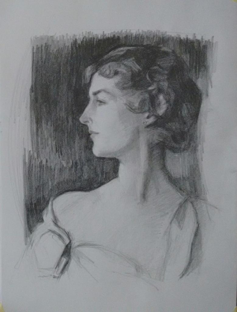 Study aftet Sargent' Mrs. Richard D. Sears portrai by sergey-ptica