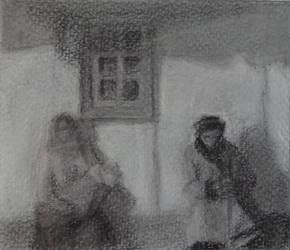 Study after Yablonskaya's Life Goes On