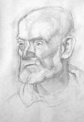 Sketch Old man's head by sergey-ptica