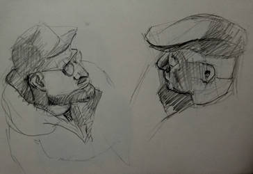 Sketch of two mans