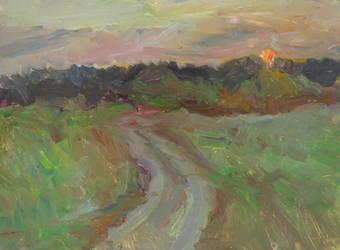 Road on sunset