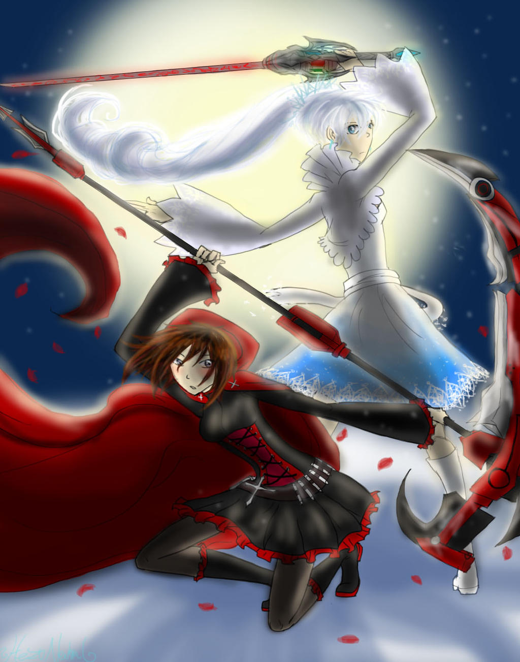 Rwby Red White By Hezuneutral On Deviantart