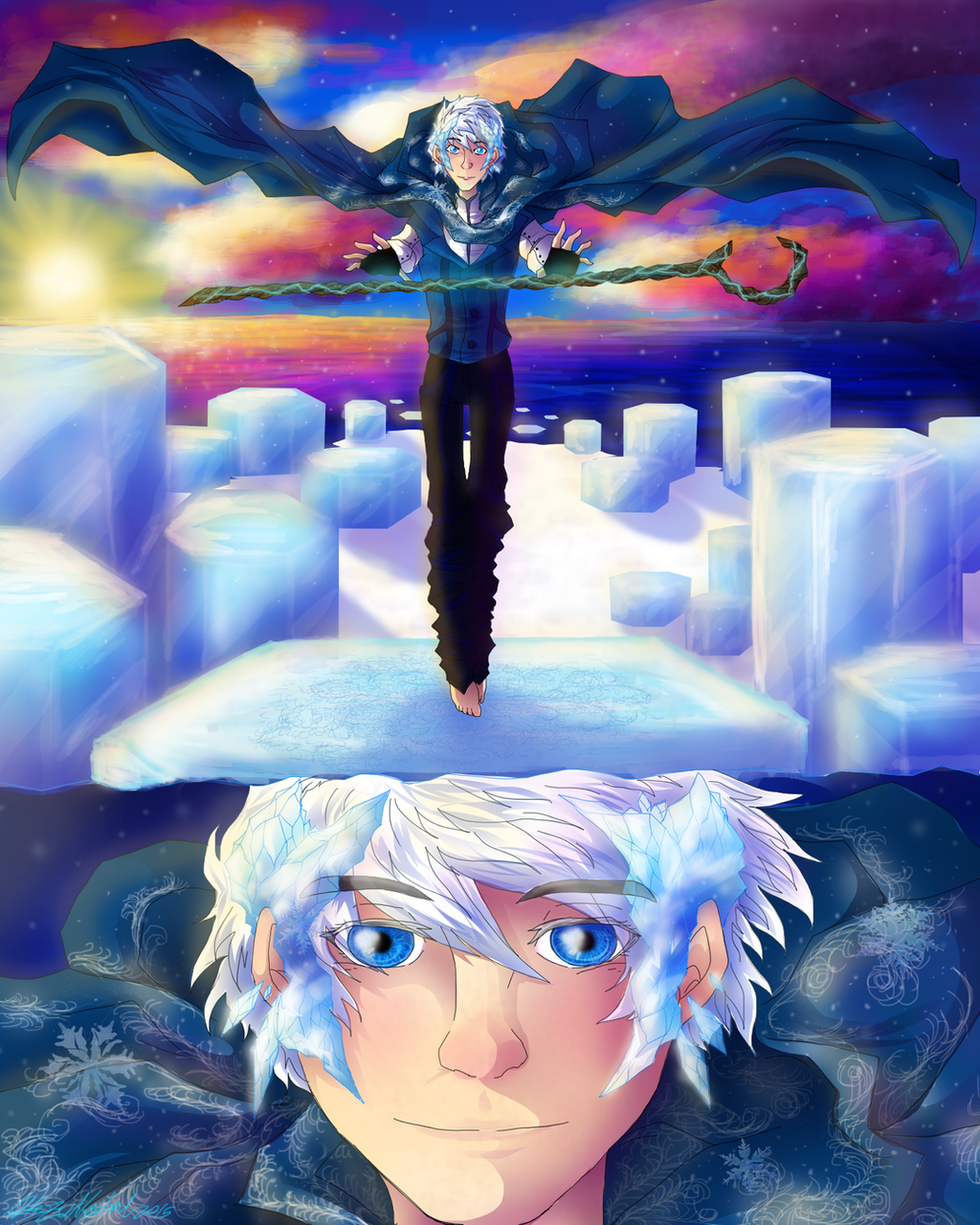 Night light x jack frost - Jack The Winter Prince Contest Entry By Hezuneutral