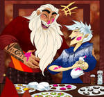 Bonding Over Cookies by HezuNeutral