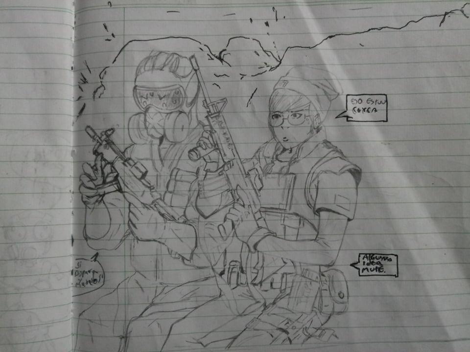 Dokky And Mute Combat by EDUARDOOREJUELA