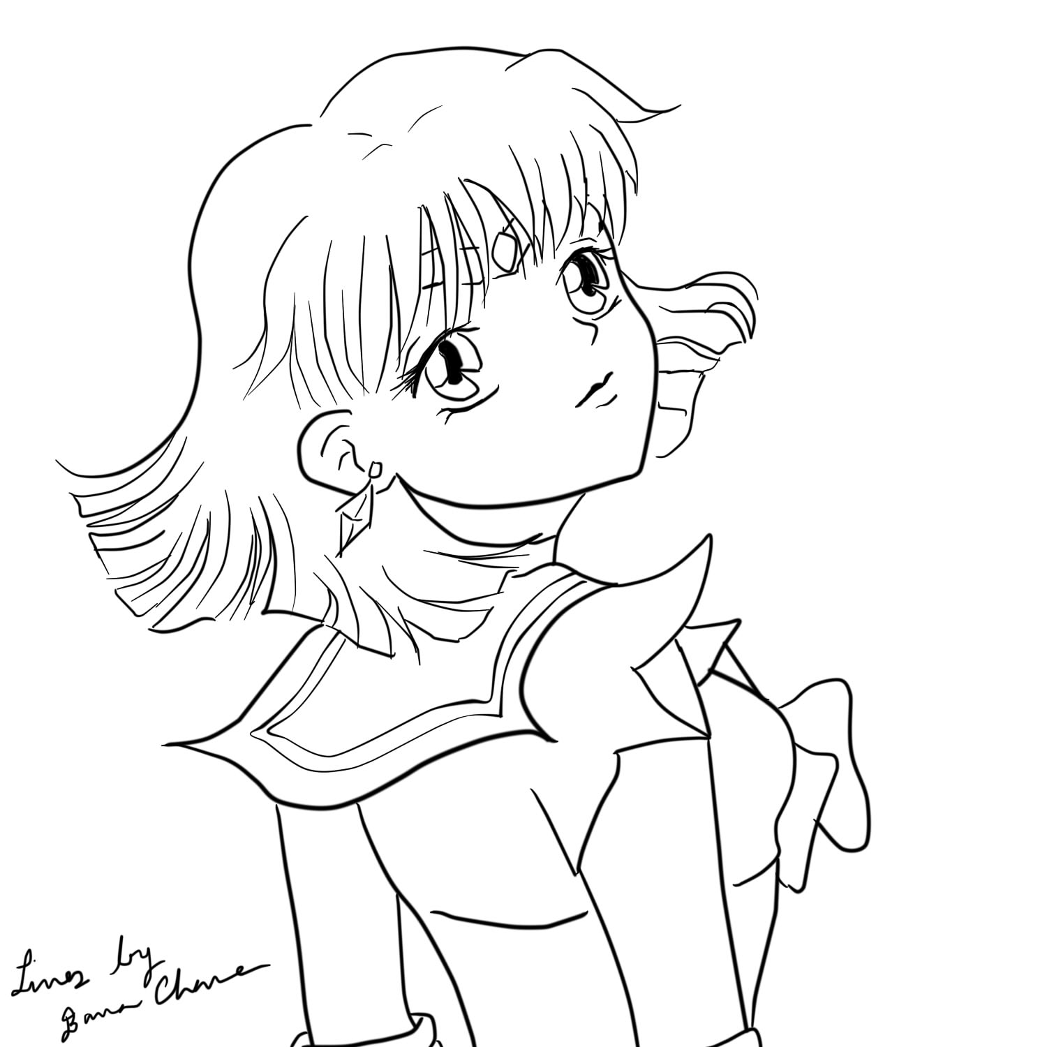 sailor moon coloring pages saturn - photo#24