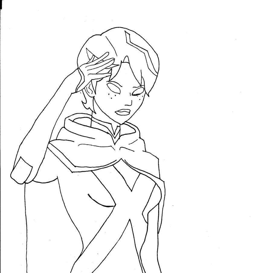 Miss Martian Young Justice Invasion Inked By Bbrae1994 On Justice Superboy Coloring Pages Free