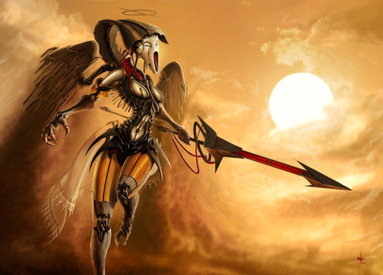 Phyrexian Angel by sunnykoda