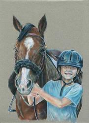 Portrait of Isabel on Pony by TrottierJS