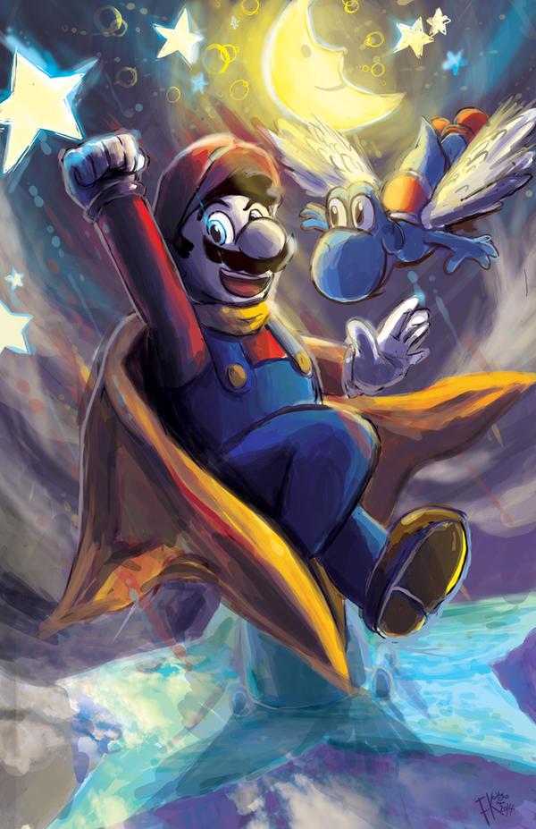 Super Mario World.  Star World by Francisco-K