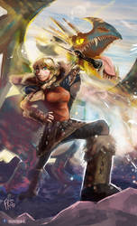 Astrid - How To Train Your Dragon by Francisco-K