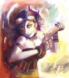 Steampunk Girl by Francisco-K