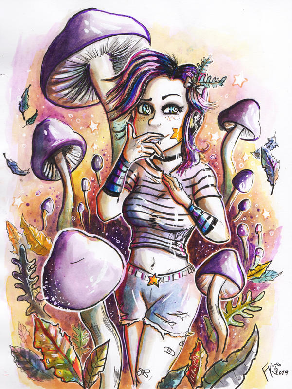 Fungi Girl - Cortinarius Magallanicus by Francisco-K