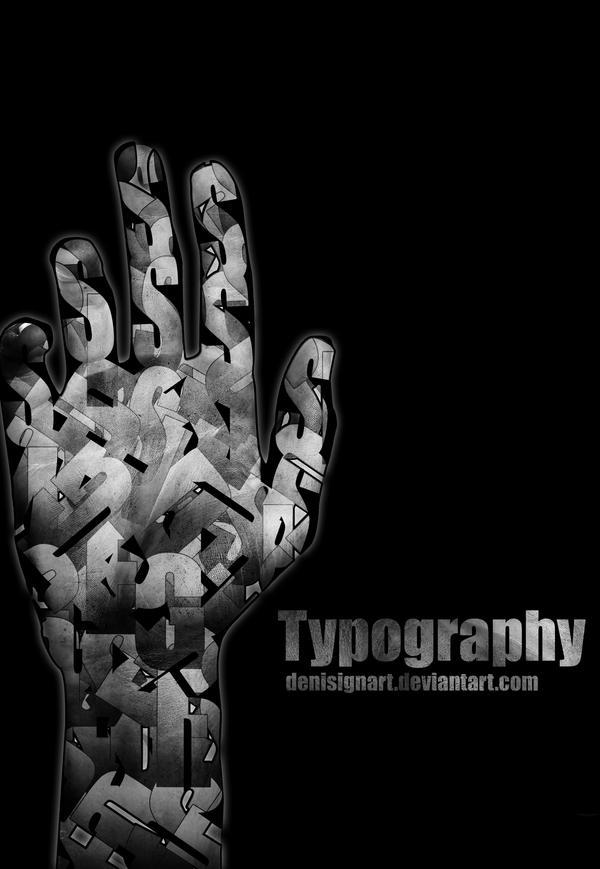 hand typography by denisignart