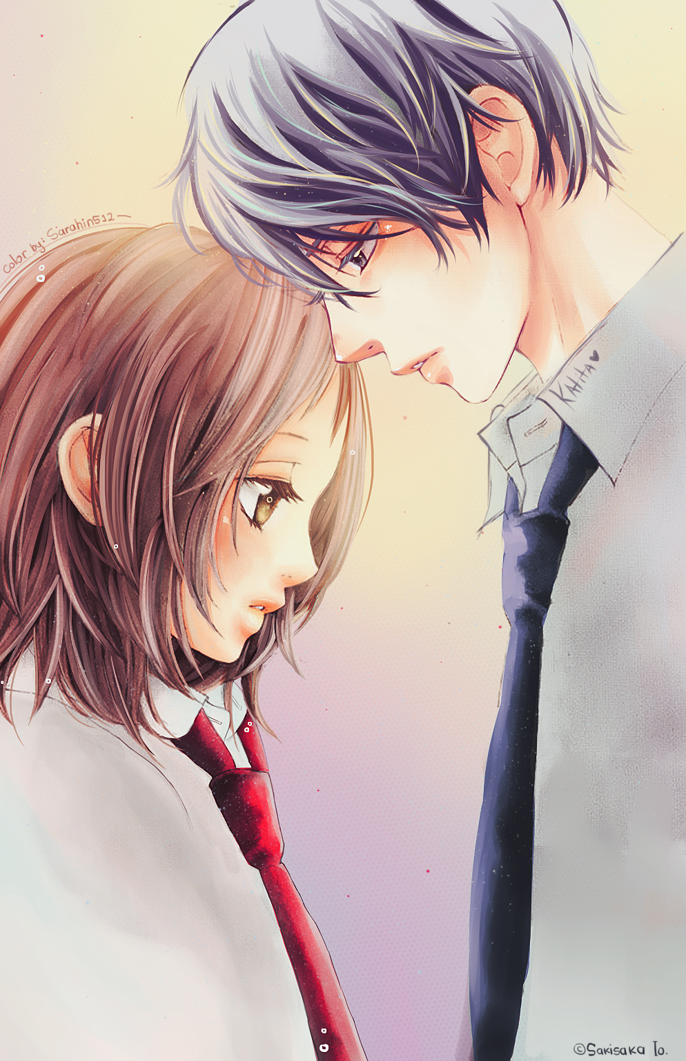 I Love You Wallpaper Boy And Girl : Strobe Edge - collab Sarahin and Katita by katita-chan on DeviantArt