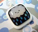 Rain cloud pendant