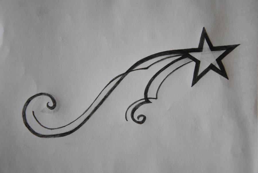 shooting star tattoo design by vivafleur on deviantart. Black Bedroom Furniture Sets. Home Design Ideas