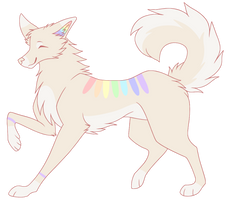 Rainbow doggo