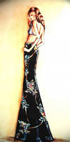 Black embroidered skirt