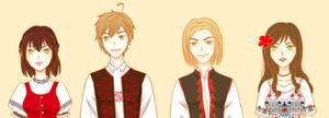 (APH) Folk! Visegrad 4 by himurayame125