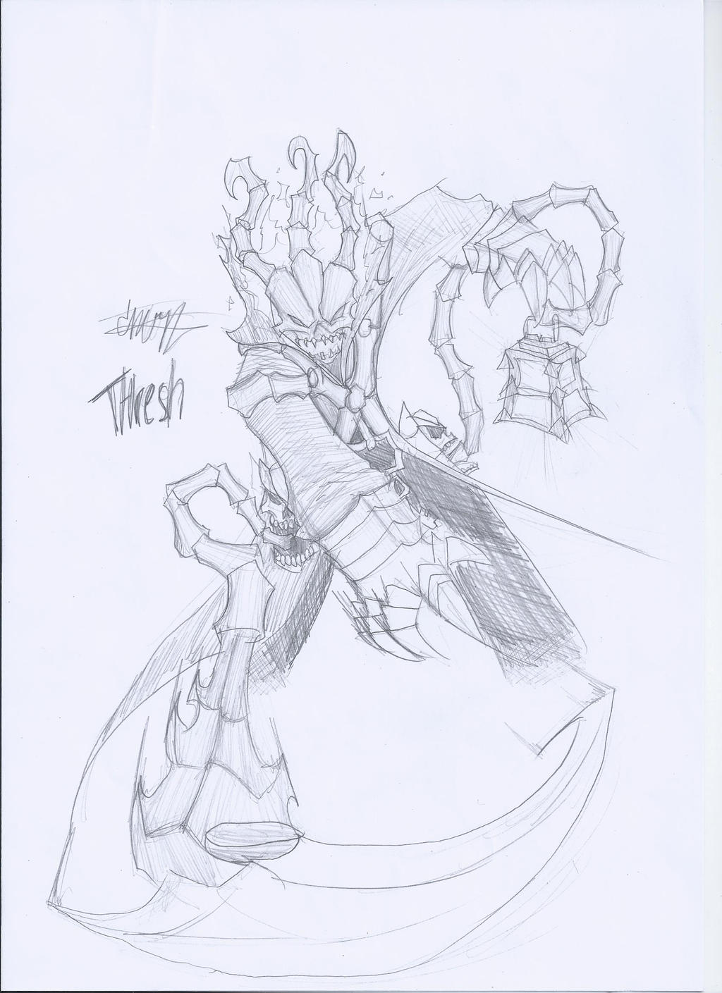 (Pencil) LoL Thresh by CrazyNat2012