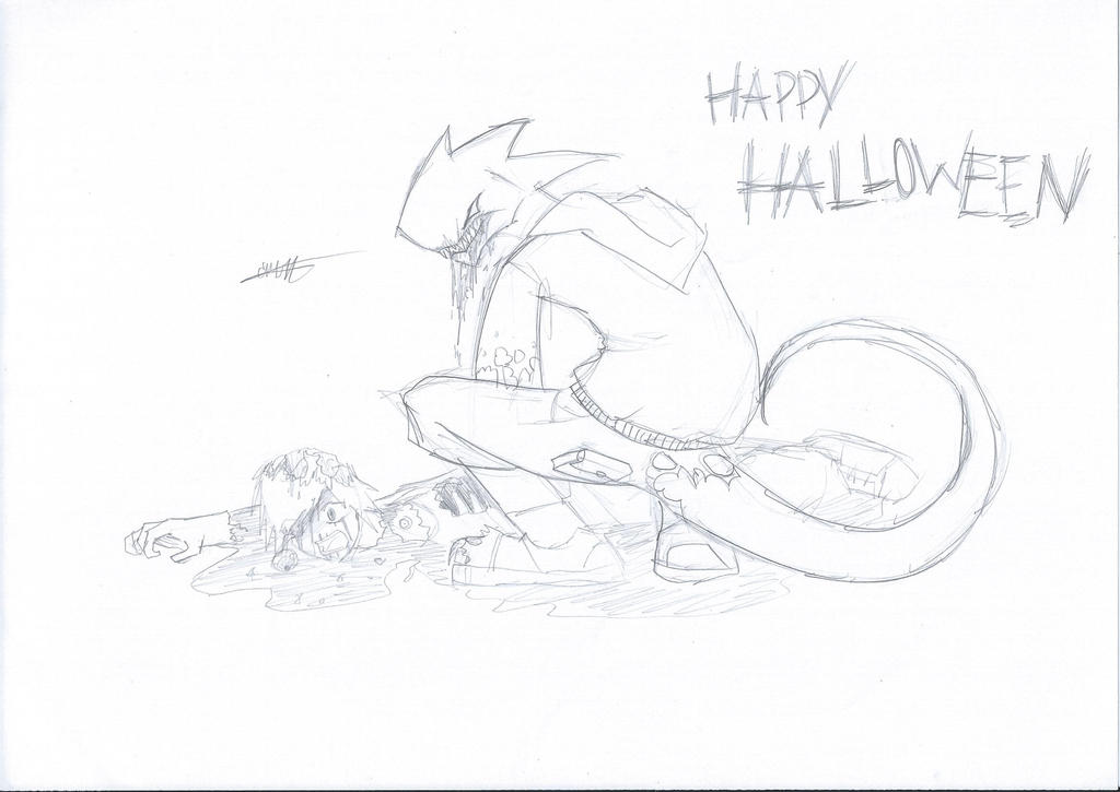 (PENCIL)Happy Halloween 2013: Naberius by CrazyNat2012