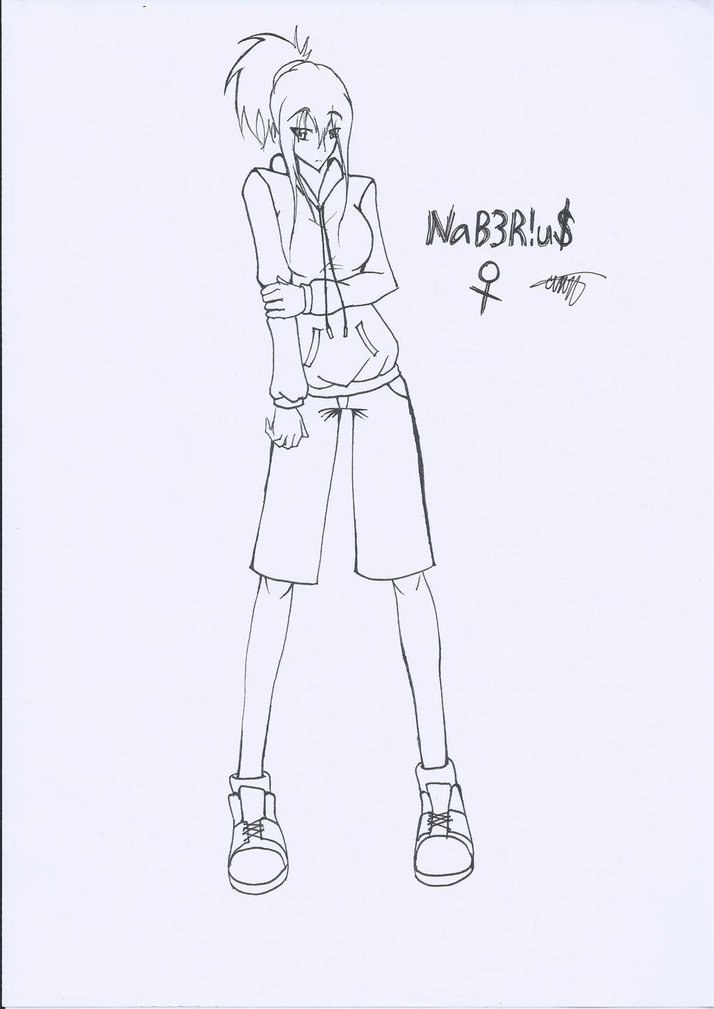 Naberius Gender Swapped (No color) by CrazyNat2012