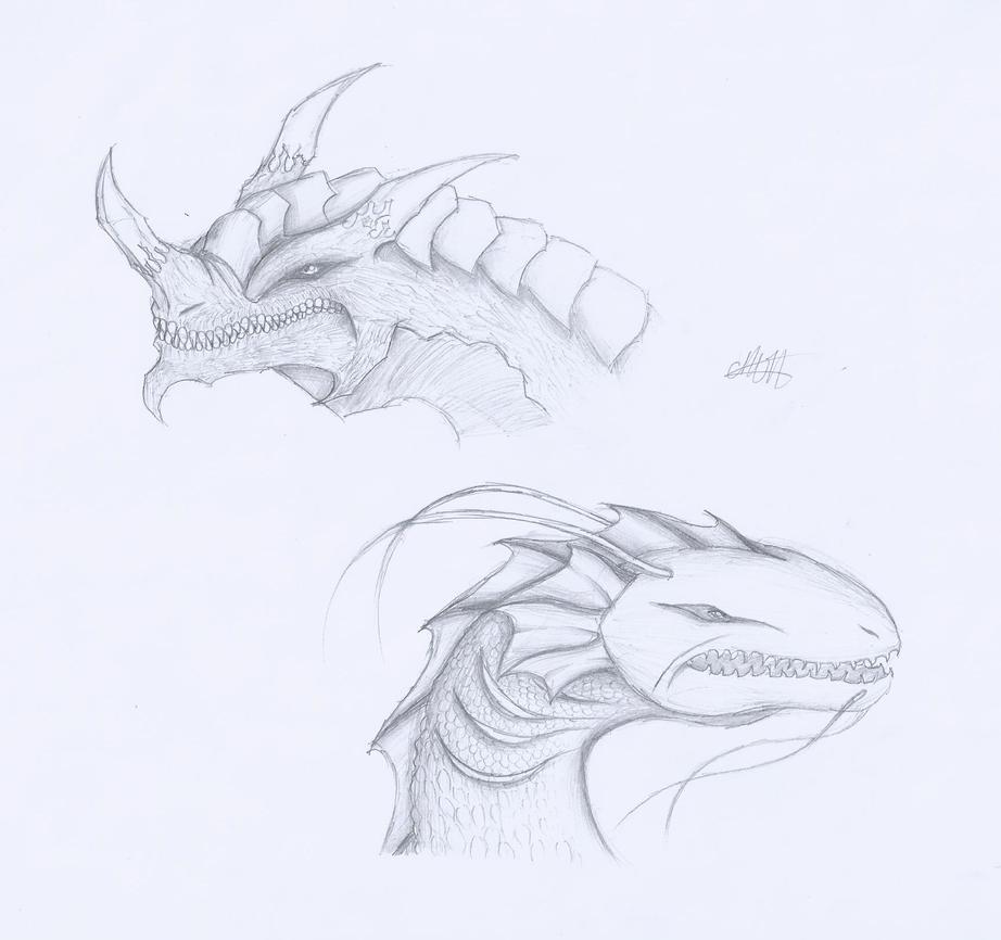 Dragon Head Designs #1 by CrazyNat2012