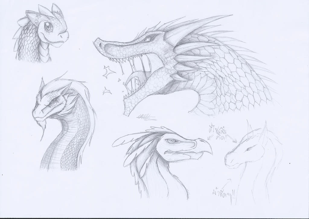 Dragon Head Designs #2 by CrazyNat2012