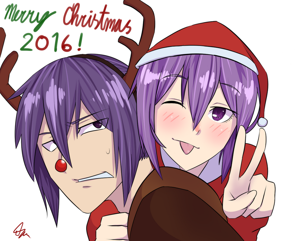 Merry Christmas 2016 with Naberius by CrazyNat2012