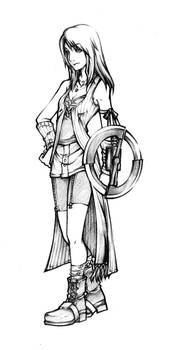 Dissidia Rinoa Sketch