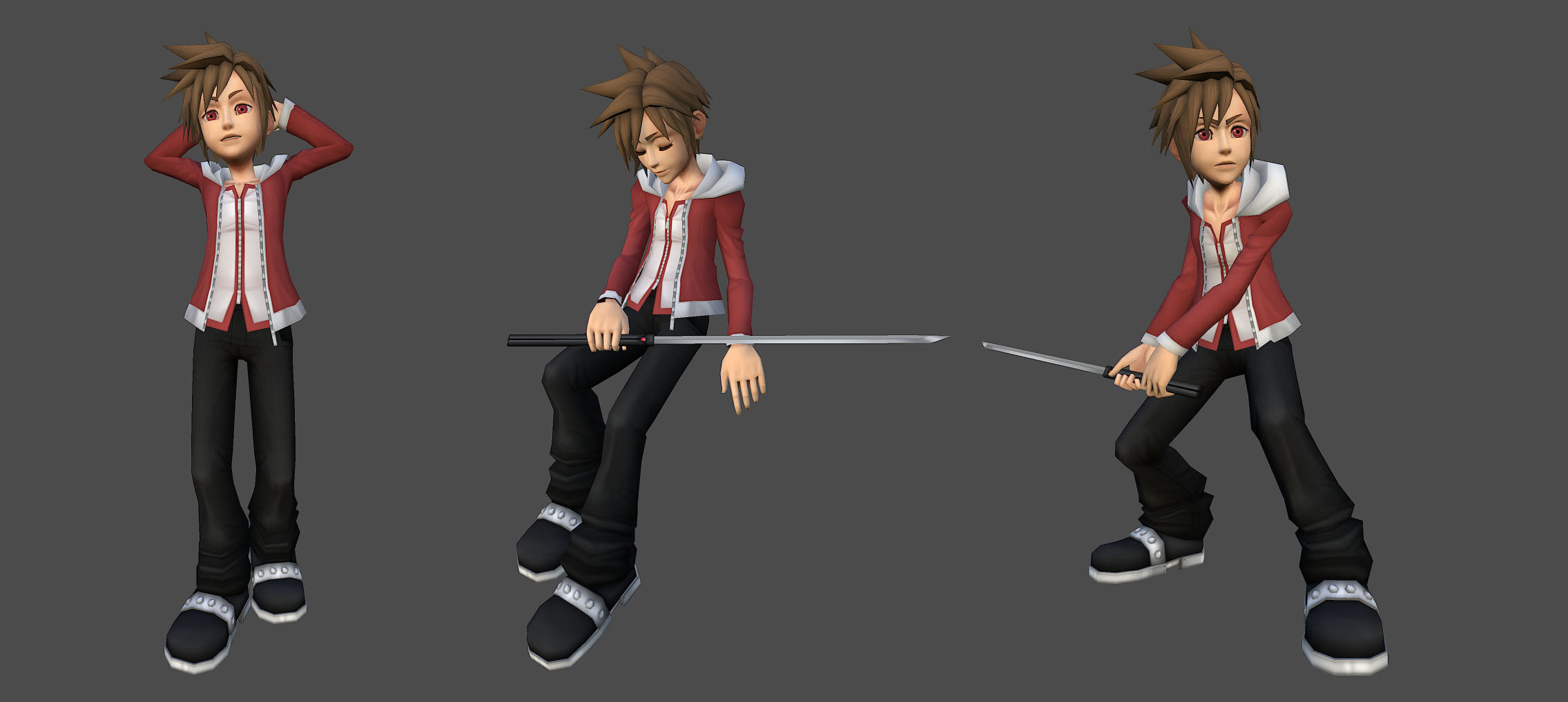 3D Homura Poses by isaiahjordan