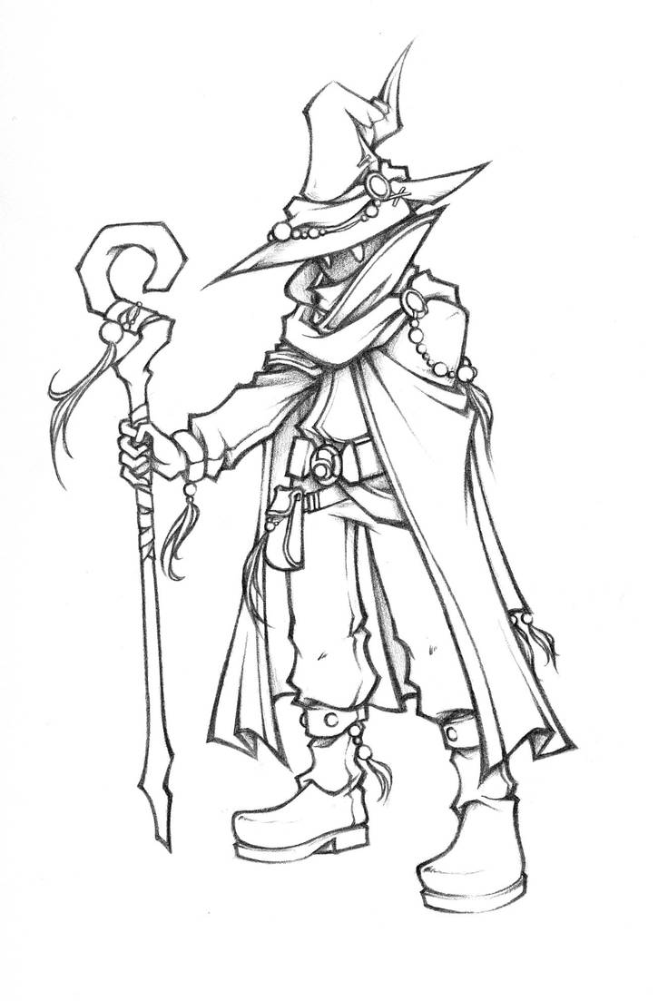 Dissidia: Black Mage of Light Sketch by isaiahjordan on