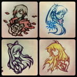 RWBY Bust Sketches