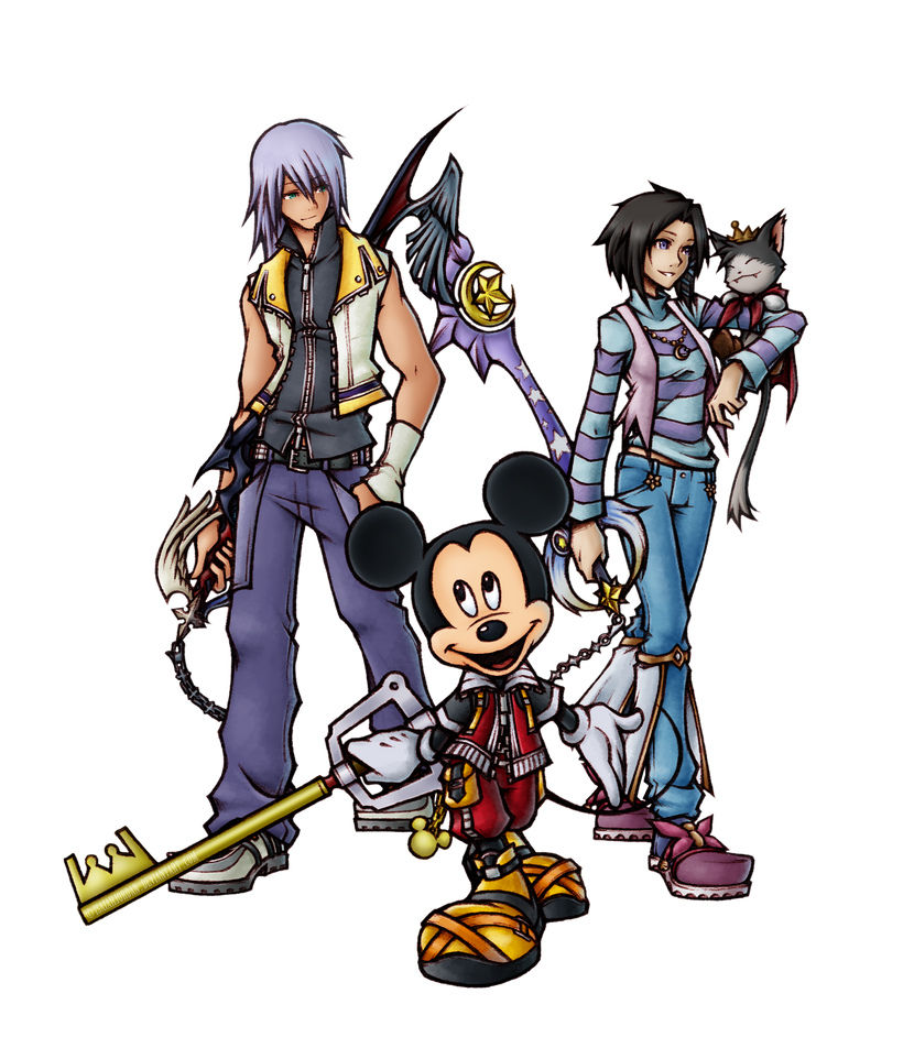 Commission  Kingdom Hearts Fragment Party by isaiahjordan on