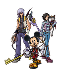 Commission: Kingdom Hearts Fragment Party