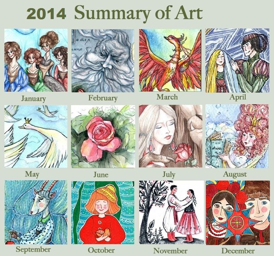 2014 Art summary by Sophia756