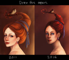 Draw this again: Autumn bird by fcnjt