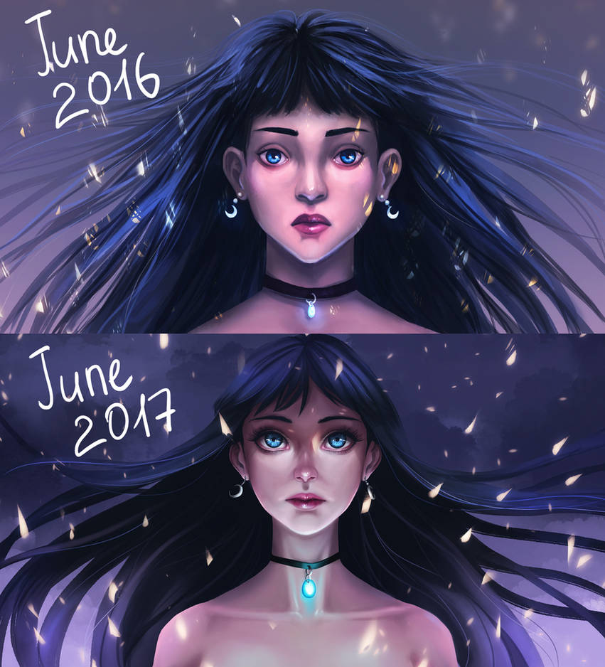 Redrawing old artwork 2016 vs 2017 by fcnjt