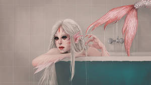 Albino Mermaid || with painting process