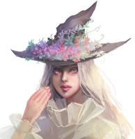Seasonal witch - Summer || with painting process by fcnjt
