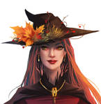 Seasonal witch - Autumn    with painting process