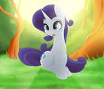 Do not leave Rarity alone in the forest!!!