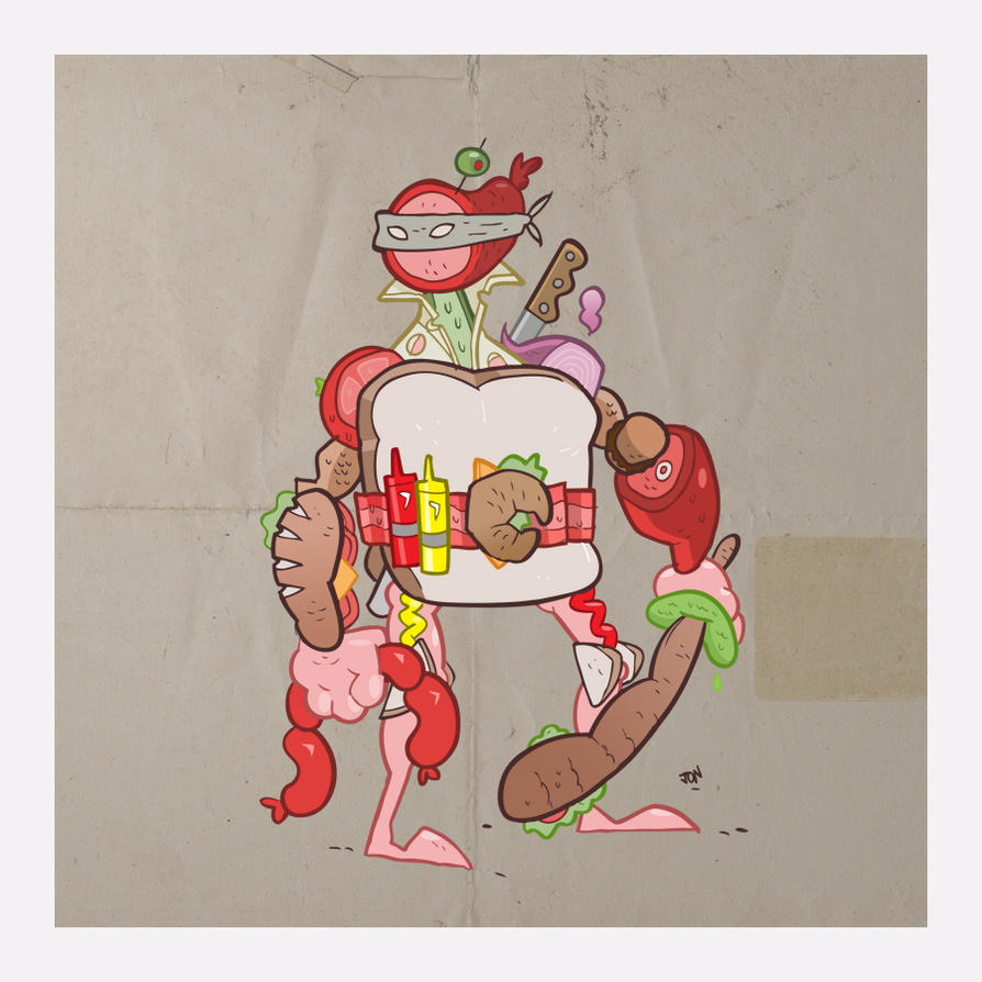 Sandwich Fighter by CalamityJon