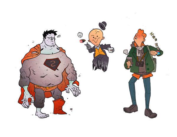 Superman's Foes and Pal by CalamityJon
