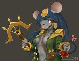 League Of Legends - Twitch(girl) by Nestkeeper