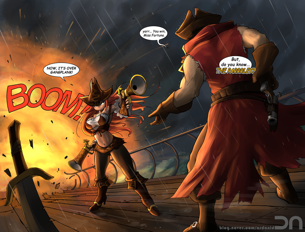 League Of Legends - Miss Fortune vs Gangplank by Nestkeeper