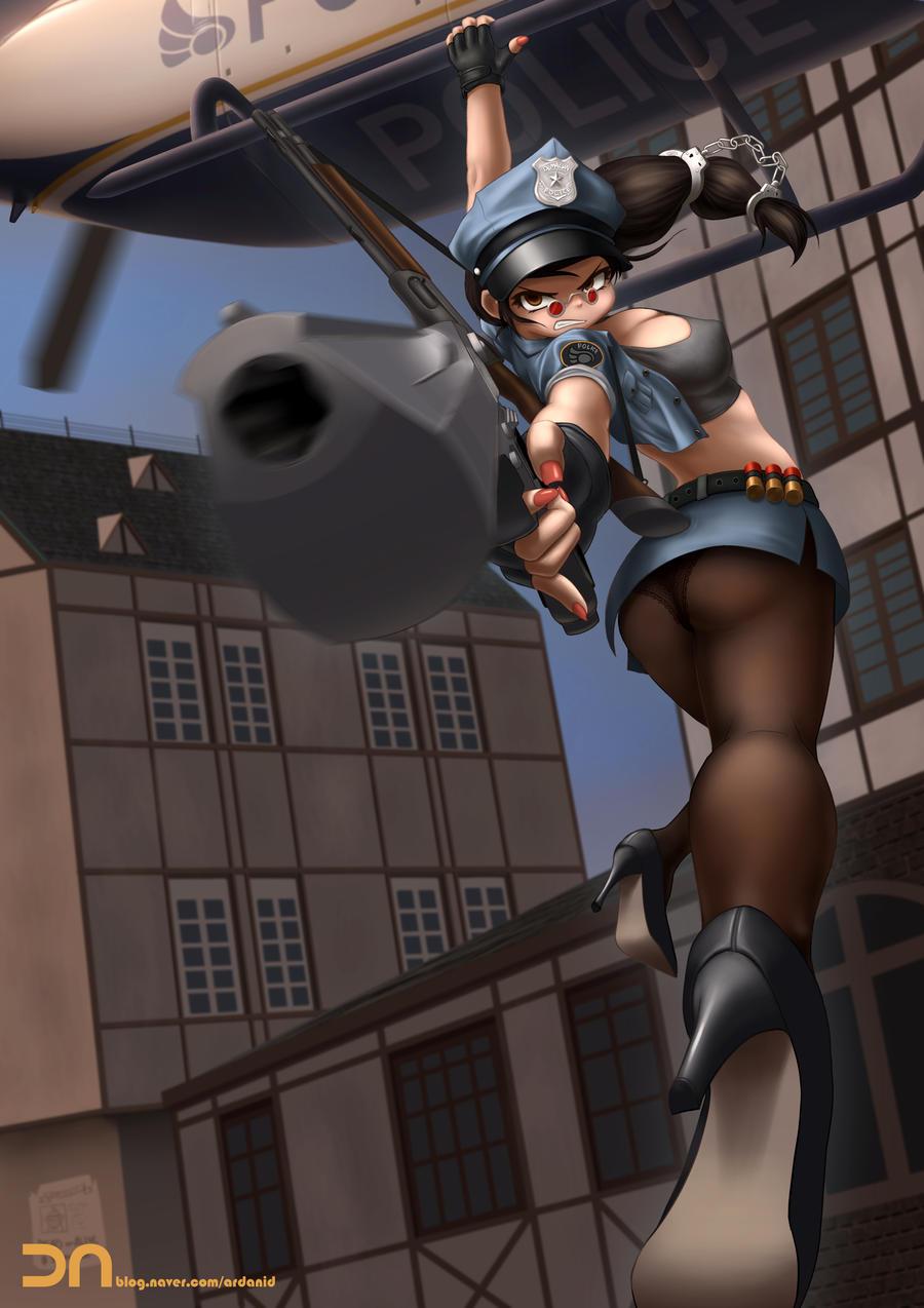 League of Legends - Officer Vayne by Nestkeeper