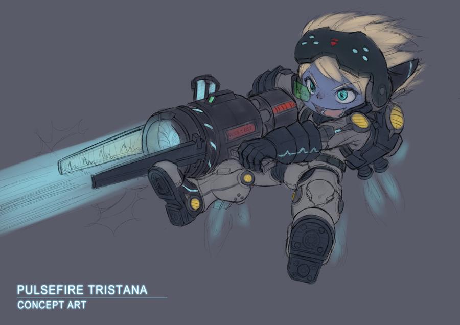 Pulsefire Tristana Concept Art by Nestkeeper