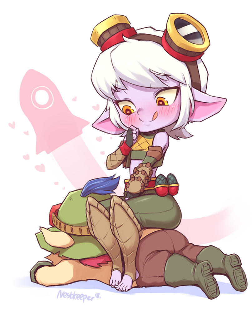 Tristana and Teemo by Nestkeeper
